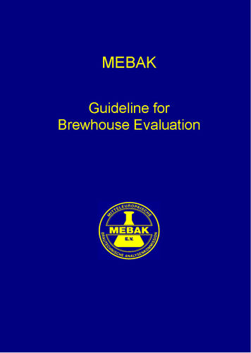 Guideline for Brewhouse Evaluation